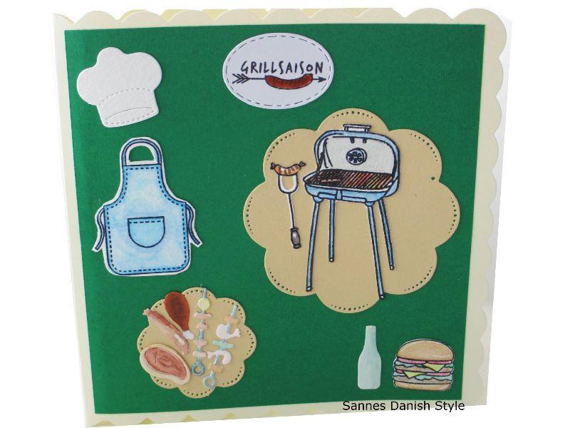 - Geburtstagskarte Schürze, Kochmütze und Grill, tolle Grillfeier mit Grillmeister, Sommerkarte für Griller, die Karte ist ca. 15 x 15 cm - Geburtstagskarte Schürze, Kochmütze und Grill, tolle Grillfeier mit Grillmeister, Sommerkarte für Griller, die Karte ist ca. 15 x 15 cm