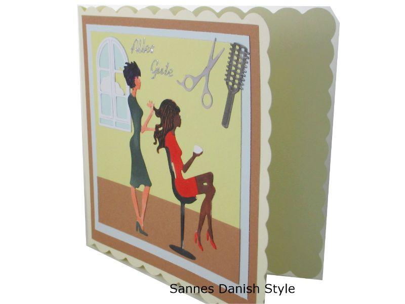 Kleinesbild - Geburtstagskarte Friseur, Grußkarte für die Frau, Friseur Gutschein, 3D Geburtstagskarte Friseur, Grußkarte Geldgeschenk, schnell bestellen, die Karte ist ca. 15 x 15 cm