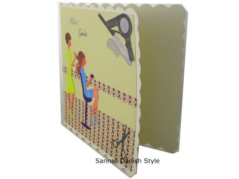 Kleinesbild -  Friseur Geldgeschenk, Grußkarte für die Frau, Friseur Gutschein, 3D Geburtstagskarte Friseur, Grußkarte Geldgeschenk, gleich kaufen, die Karte ist ca. 15 x 15 cm