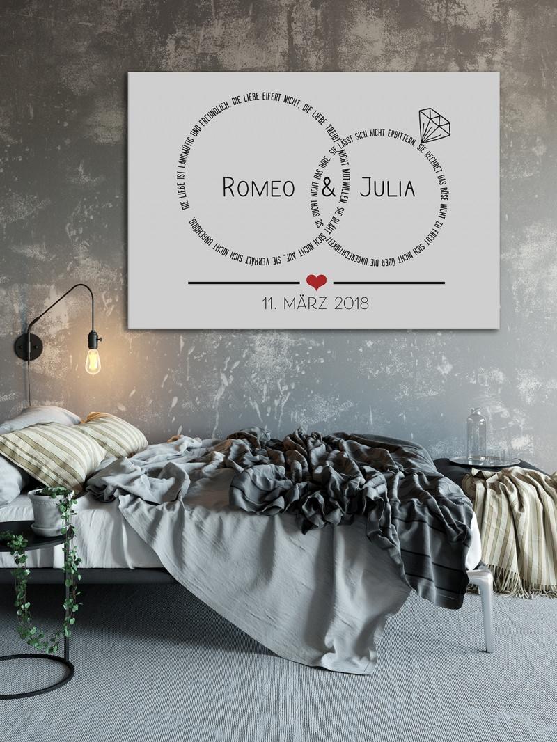 Wohnen : Ehe-Ringe Hochzeitsringe ♡ DIN A2 Kunstdruck ohne Rahmen