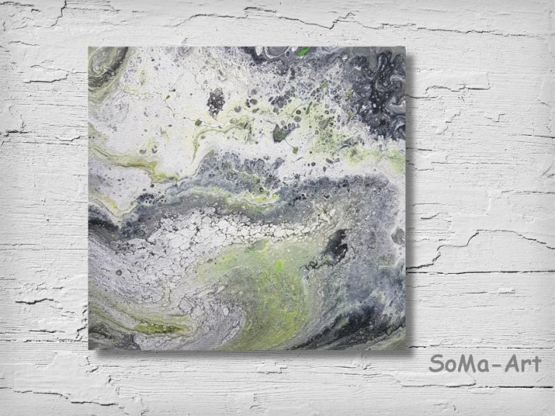 Kunst : Acrylbild ☆Swirl☆ 30cm x 30 cm auf Keilrahmen, Moderne ...