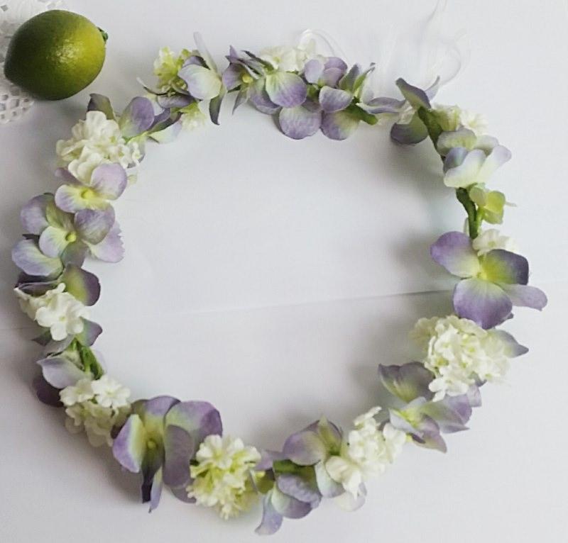 Kleinesbild - Blumenhaarkranz Blumenkrone, Haarkranz Blumenstreukind Hochzeit