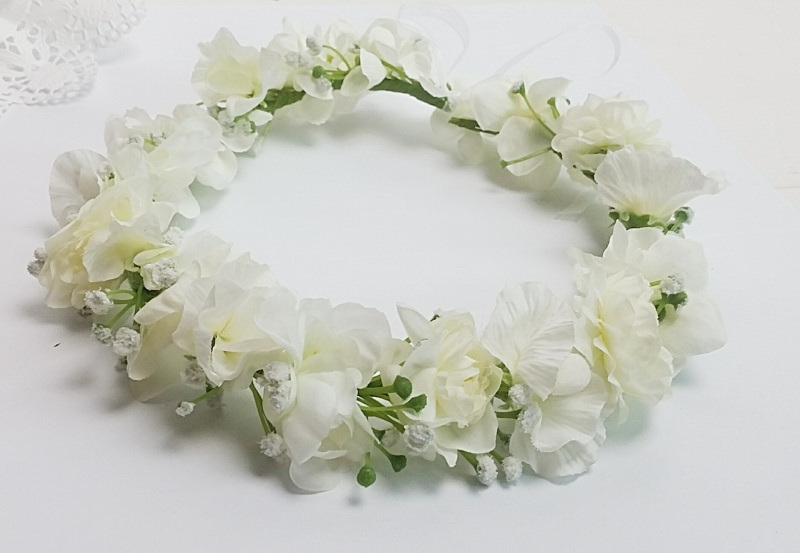 - Blumenhaarkranz Blumenkrone, Haarkranz Blumenstreukind Hochzeit  - Blumenhaarkranz Blumenkrone, Haarkranz Blumenstreukind Hochzeit