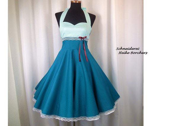 Mode 50er Jahre Kleid Petticoat Kleid Hochzeitskleid Melinda