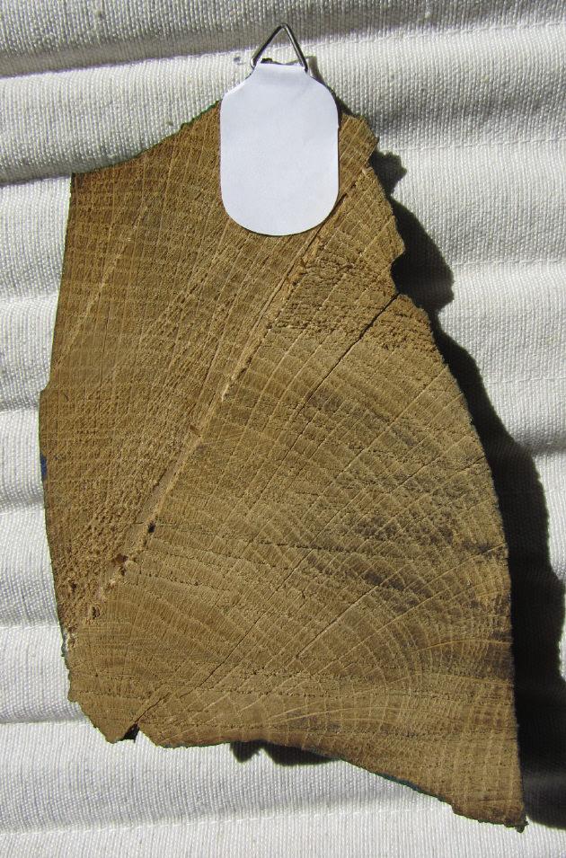 Kleinesbild - Handgemaltes Acrylbild auf einem Holzscheit gemalt und mit einem Bildaufhänger auf der Rückseite direkt von der Künstlerin kaufen