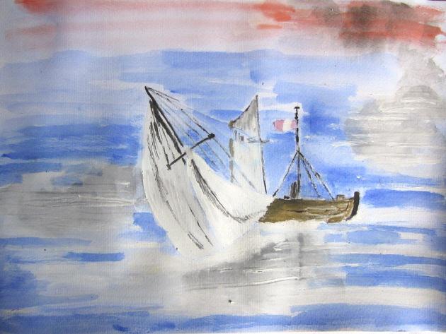 - Aquarell Bild Segelboot handgemalt mit Aquarellfarben auf Aquarellpapier direkt von der Künstlerin das Original kaufen - Aquarell Bild Segelboot handgemalt mit Aquarellfarben auf Aquarellpapier direkt von der Künstlerin das Original kaufen