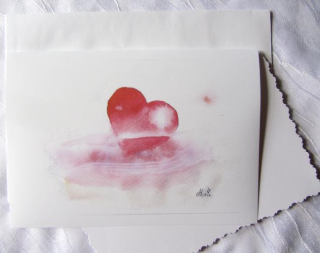 - Grußkarte Faltkarte Herz in Not handgemalt fotografiert und gedruckt auf Fotopapier kaufen - Grußkarte Faltkarte Herz in Not handgemalt fotografiert und gedruckt auf Fotopapier kaufen