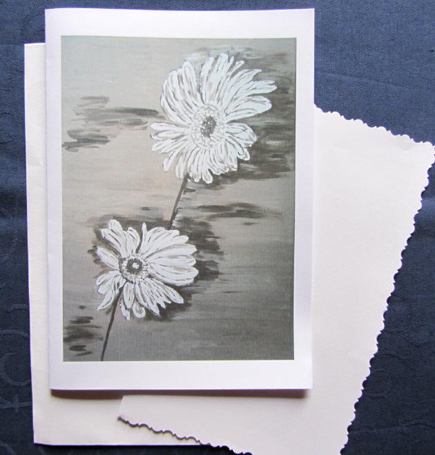 - Grußkarte ☀ Faltkarte Margeriten-Duo handgemalt fotografiert und gedruckt auf Fotopapier kaufen - Grußkarte ☀ Faltkarte Margeriten-Duo handgemalt fotografiert und gedruckt auf Fotopapier kaufen