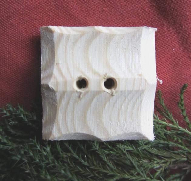 - Handgefertigter Knopf Zierknopf aus Fichtenholz 40 x 40 mm in quadratischer Form unbehandelt kaufen - Handgefertigter Knopf Zierknopf aus Fichtenholz 40 x 40 mm in quadratischer Form unbehandelt kaufen