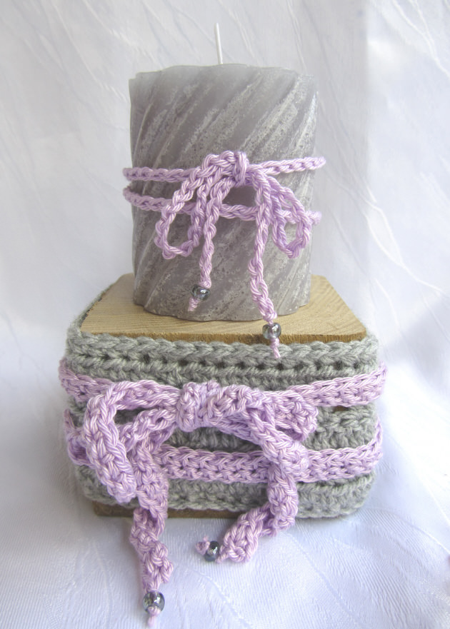- Kerzenhalter ☆ handgemacht aus Holz und einer Manschette aus Baumwolle in grau kaufen - Kerzenhalter ☆ handgemacht aus Holz und einer Manschette aus Baumwolle in grau kaufen