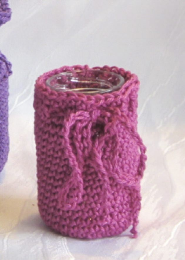 Dekoration : Vase ☀ in einem Kleid handgehäkelt aus Baumwolle in ...