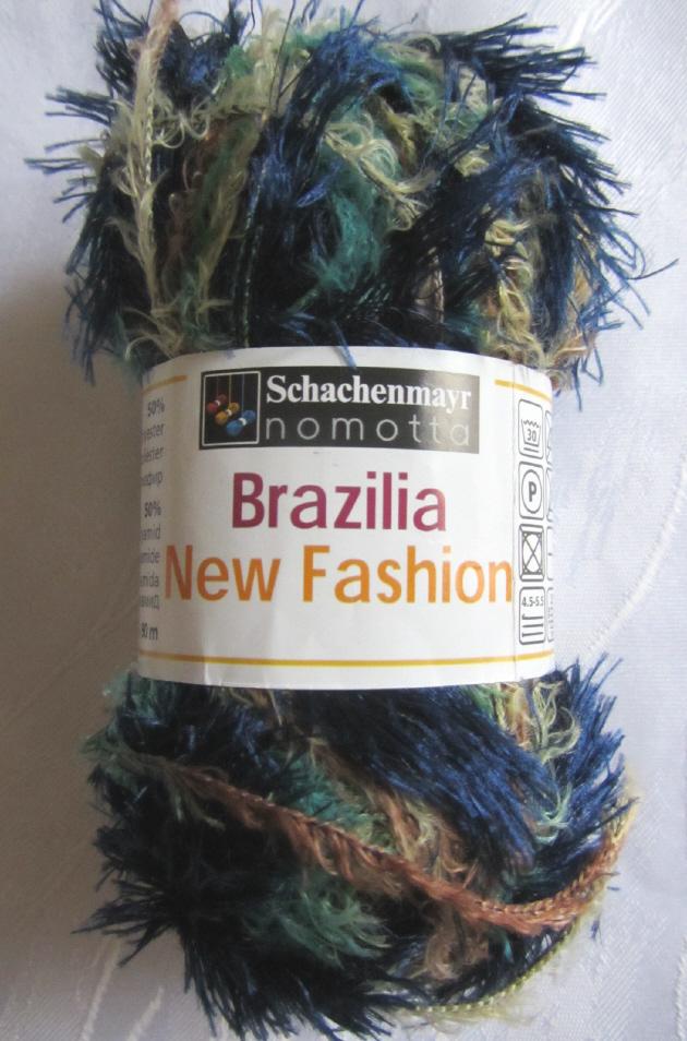 Kleinesbild - Fransenwolle Strick- und Häkelwolle Brazilia New Fashion in Blau-Türkis von Schachenmayr Nadelstärke 4,5 - 5,5 mm (Grundpreis 100 g/4,60 €) kaufen