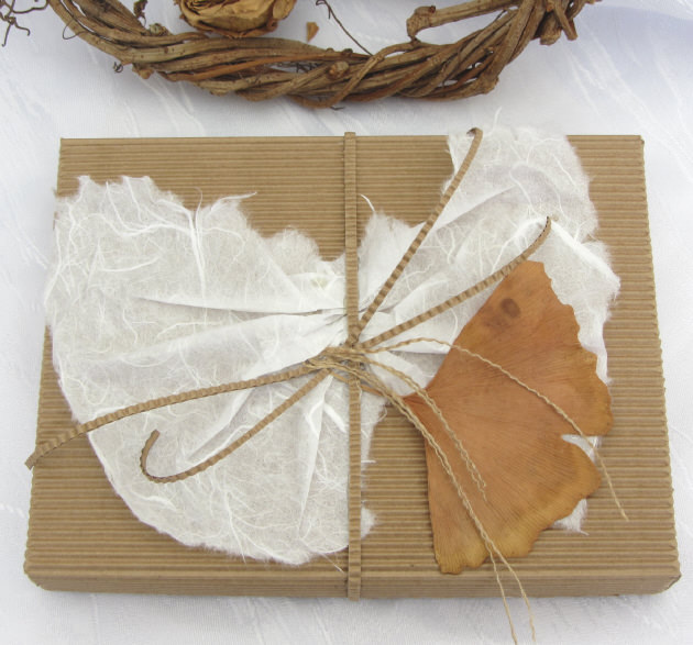 Kleinesbild - Geschenkschachtel handgemacht aus Wellpappe aus meiner Serie Natur in rechteckiger Form kaufen