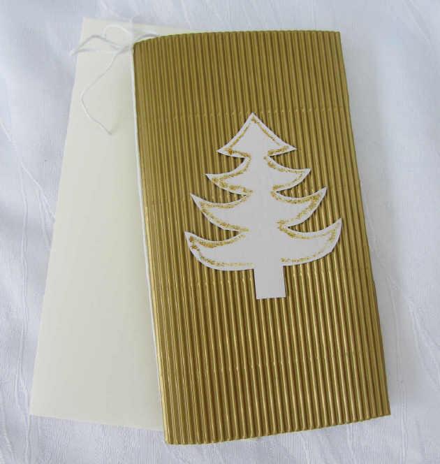 - Faltkarte ☆ Klappkarte Weihnachtskarte mit Briefumschlag handgefertigt aus Wellpappe goldfarbig kaufen - Faltkarte ☆ Klappkarte Weihnachtskarte mit Briefumschlag handgefertigt aus Wellpappe goldfarbig kaufen