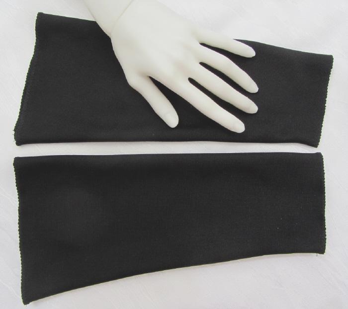 - Handgefertigte Armstulpen ♥ zugeschnitten und genäht aus festem Jerseystoff in Schwarz für festliche Anlässe kaufen - Handgefertigte Armstulpen ♥ zugeschnitten und genäht aus festem Jerseystoff in Schwarz für festliche Anlässe kaufen