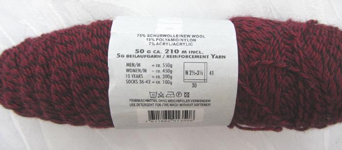 - Wolle von Lang Yarns in der Farbe Dunkelrot schwarz  (Grundpreis 100 g/3,00 €) zum Häkeln und Stricken kaufen - Wolle von Lang Yarns in der Farbe Dunkelrot schwarz  (Grundpreis 100 g/3,00 €) zum Häkeln und Stricken kaufen