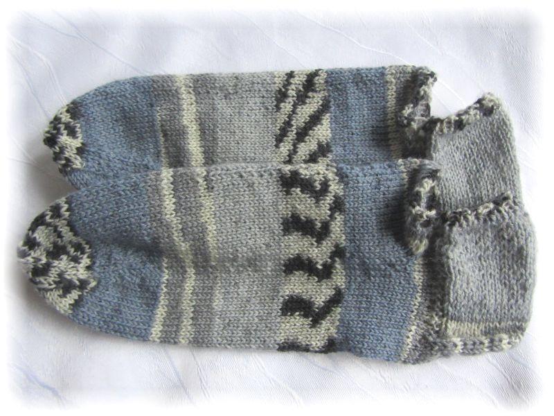 Kleinesbild - Handgestrickte kurze Sommer Socken Größe 37/38 ♡ aus Sockenwolle Blaues Meer und Steinstrand kaufen