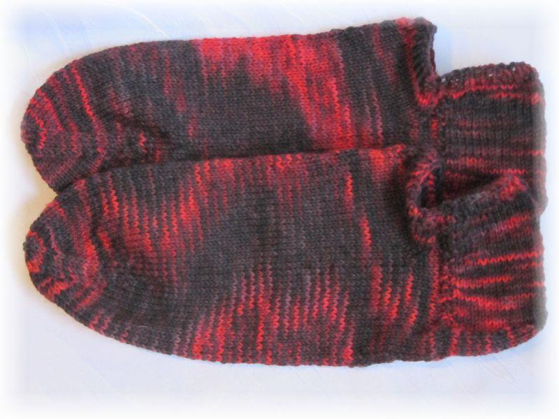 Kleinesbild - Handgestrickte kurze Socken Größe 41/42 ♡ aus handgefärbter Sockenwolle Endless Love kaufen