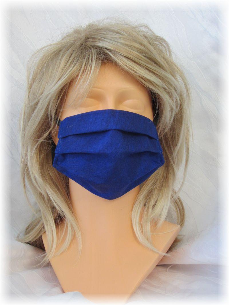 - Behelfs Mund Nasen Maske Gesichtsmaske zweilagig aus Baumwollstoff in Blau und Gummiband kaufen - Behelfs Mund Nasen Maske Gesichtsmaske zweilagig aus Baumwollstoff in Blau und Gummiband kaufen