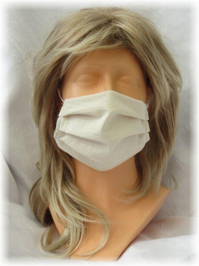 - Behelfs Mund Nasen Maske Gesichtsmaske zweilagig aus Baumwollstoff in Beige mit Gummiband kaufen - Behelfs Mund Nasen Maske Gesichtsmaske zweilagig aus Baumwollstoff in Beige mit Gummiband kaufen
