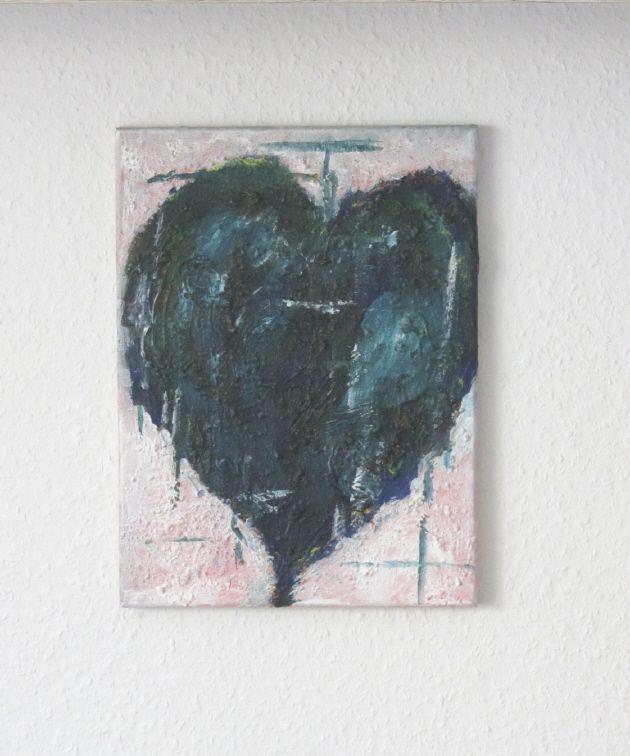 - Handgemaltes Acrylbild mit dem Titel Herz in Türkis gemalt mit Acrylfarben auf Keilrahmen direkt von der Künstlerin kaufen - Handgemaltes Acrylbild mit dem Titel Herz in Türkis gemalt mit Acrylfarben auf Keilrahmen direkt von der Künstlerin kaufen