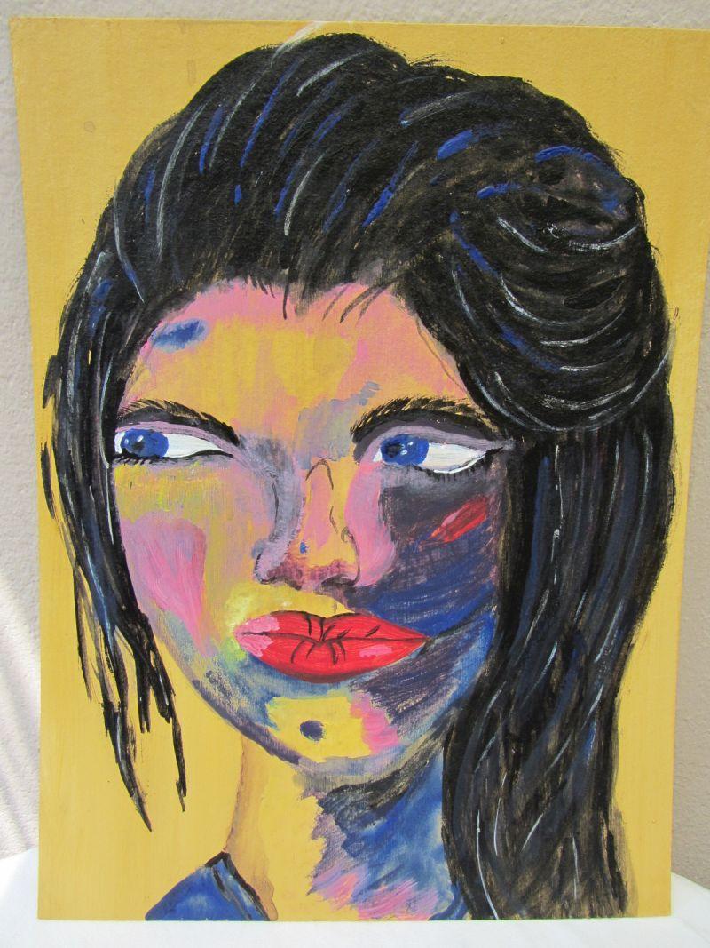 - Handgemaltes Acrylbild mit dem Titel Roxana gemalt mit Acrylfarben auf Pappe direkt von der Künstlerin kaufen - Handgemaltes Acrylbild mit dem Titel Roxana gemalt mit Acrylfarben auf Pappe direkt von der Künstlerin kaufen