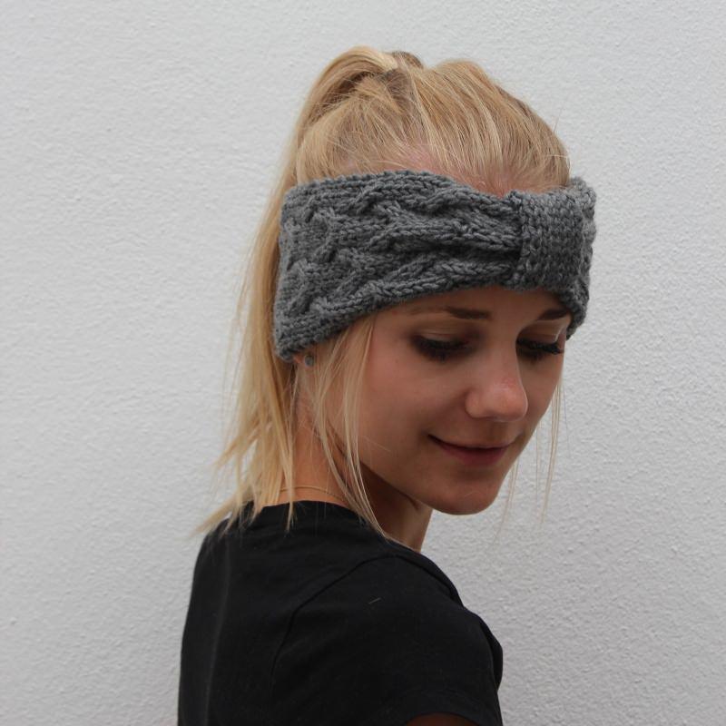 Kleinesbild - Stirnband * ANNA * handgestrickt von zimtblüte / Farbwahl