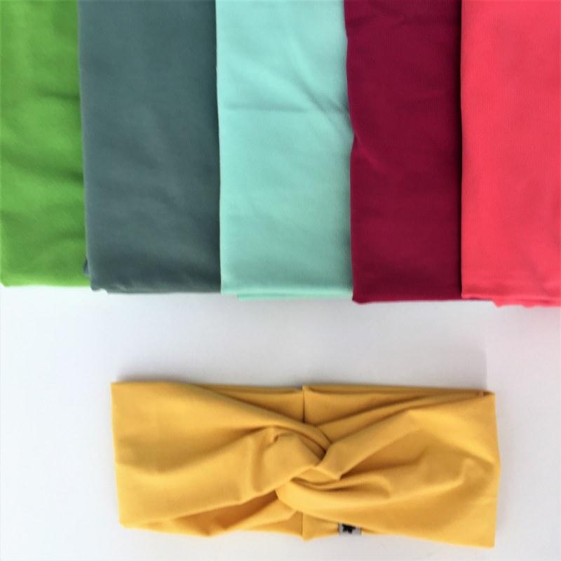 Kleinesbild - Turban Stirnband **EINFARBIG** gelb viele Basicfarben vorhanden!