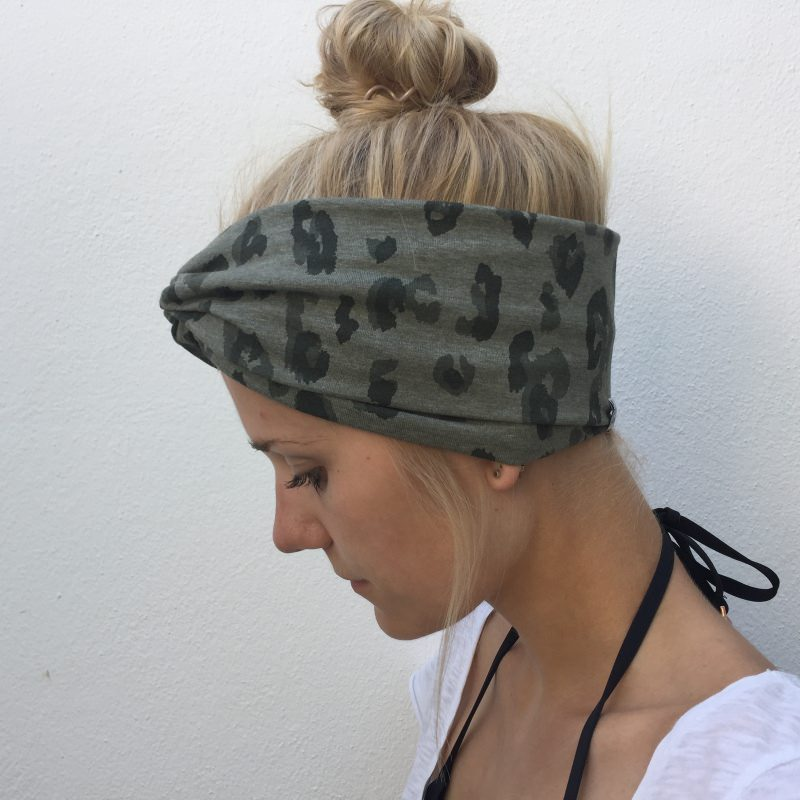 Kleinesbild -  Turban Stirnband **LEOPRINT** Animalprint  Handarbeit von zimtbluete