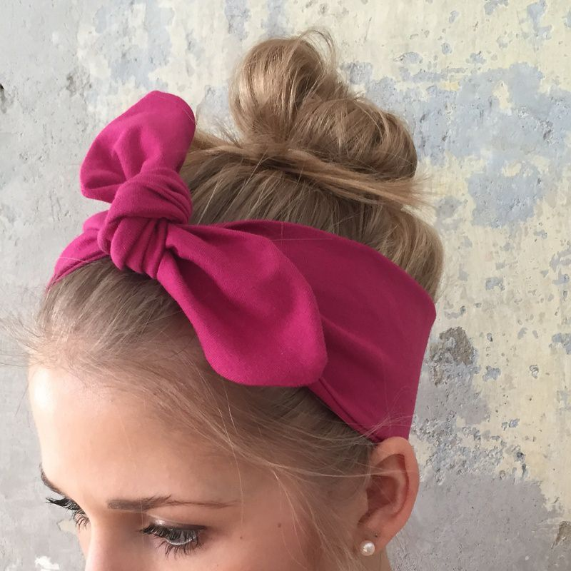 - Stirnband ** UNI-FARBE **  in  vielen Basicfarben - Stirnband ** UNI-FARBE **  in  vielen Basicfarben