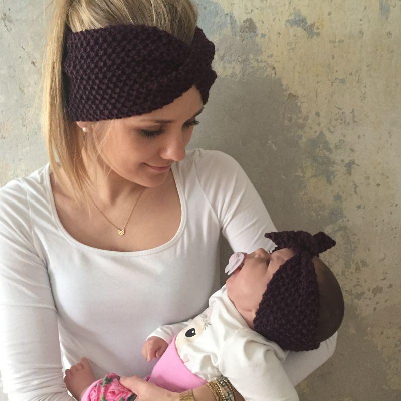 Kleinesbild - Stirnband Modell **MARIE**  Beere / gestrickt von zimtblüte viele Farbmöglichkeiten