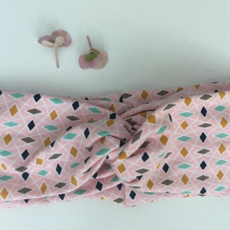 Kleinesbild - Bandeau Stirnband * ROSA * Turbanstyle von zimtblüte