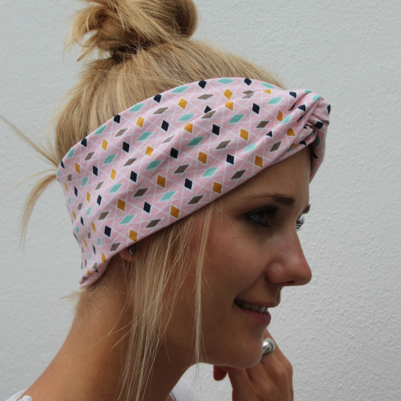 - Bandeau Stirnband * ROSA * Turbanstyle von zimtblüte  - Bandeau Stirnband * ROSA * Turbanstyle von zimtblüte