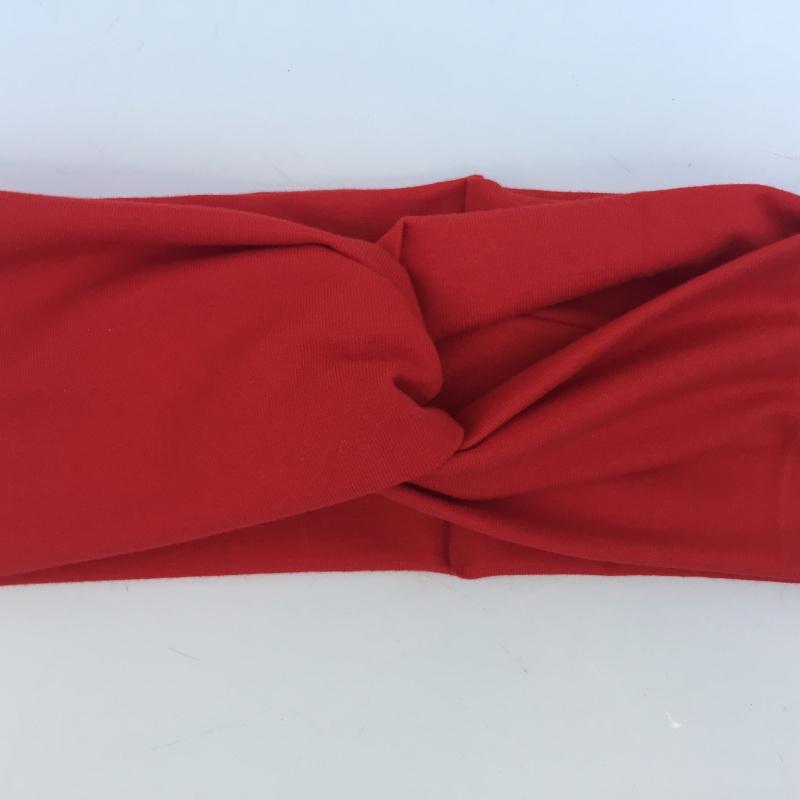 Kleinesbild - Turban Stirnband **EINFARBIG** in tomatenrot viele Basicfarben vorhanden!