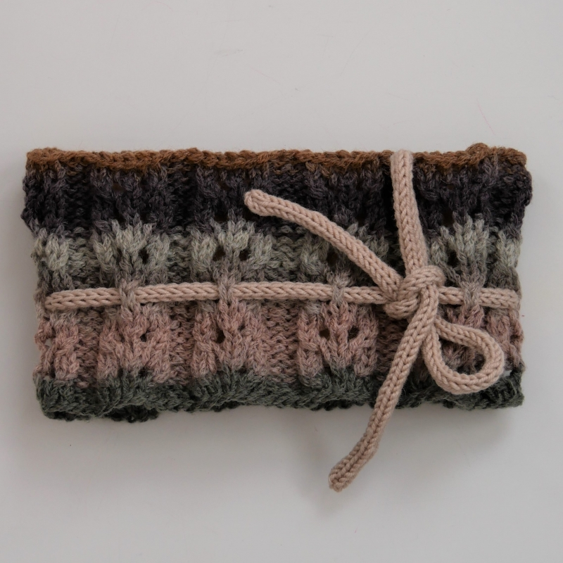 Kleinesbild - Gestrickt Stirnband **  NELE  ** von zimtblüte Farbverlauf  mit Lochmuster
