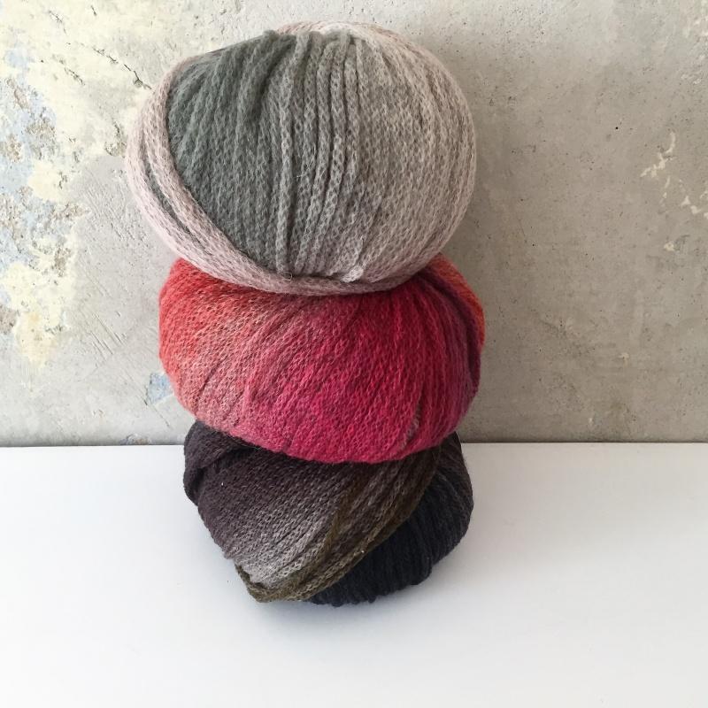 Kleinesbild - leichter Beanie gestrickt  * INGA *  Wollbeanie Farbverlaufswolle  handgestrickt von zimtblüte