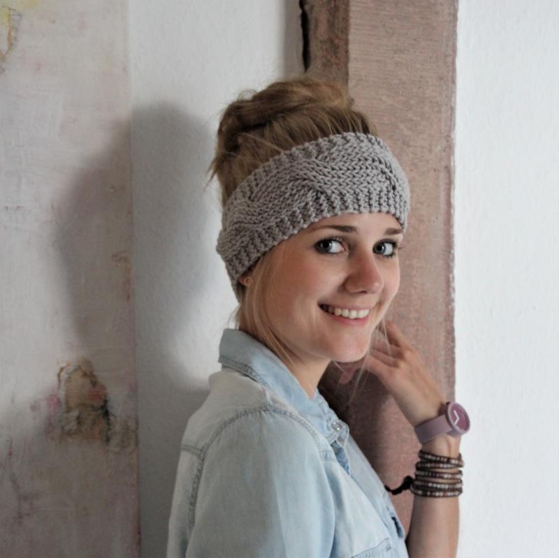 Kleinesbild - Stirnband Haarband *BILLIE*  handgestrickt von zimtblüte 5 Farben