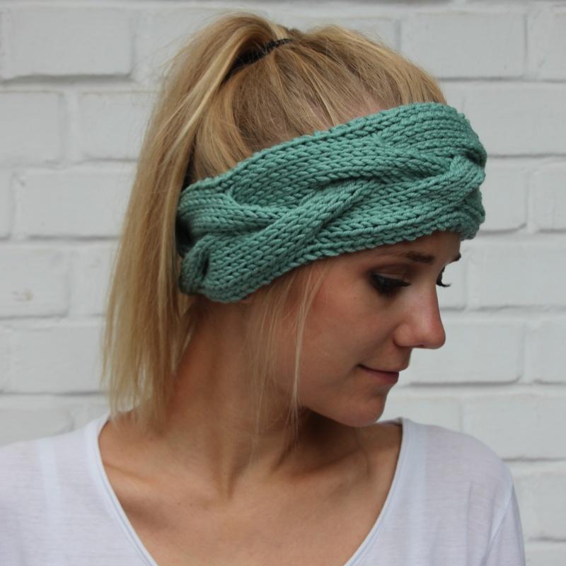 Kleinesbild - Stirnband Haarband ** FEE **  handgestrickt von zimtblüte /  Farbwahl