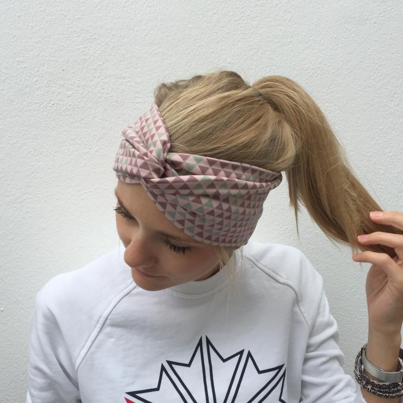 - Haarband TurbanStirnband **DREIECK**  von zimtbluete  - Haarband TurbanStirnband **DREIECK**  von zimtbluete