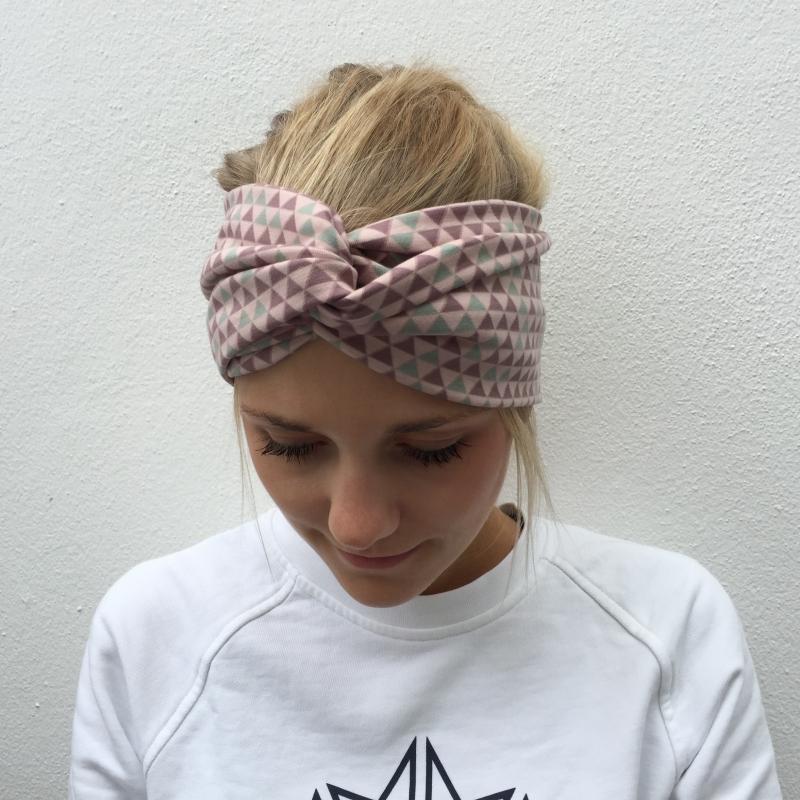 Kleinesbild - Haarband TurbanStirnband **DREIECK**  von zimtbluete