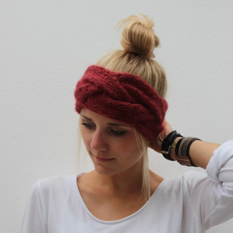 Kleinesbild - Stirnband  ** HERZIG ** mit Kaschmir handgestrickt von zimtblüte / 3 Farben