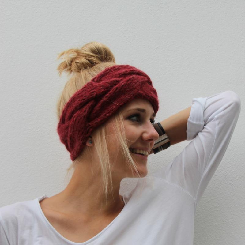 - Stirnband  ** HERZIG ** mit Kaschmir handgestrickt von zimtblüte / 3 Farben - Stirnband  ** HERZIG ** mit Kaschmir handgestrickt von zimtblüte / 3 Farben