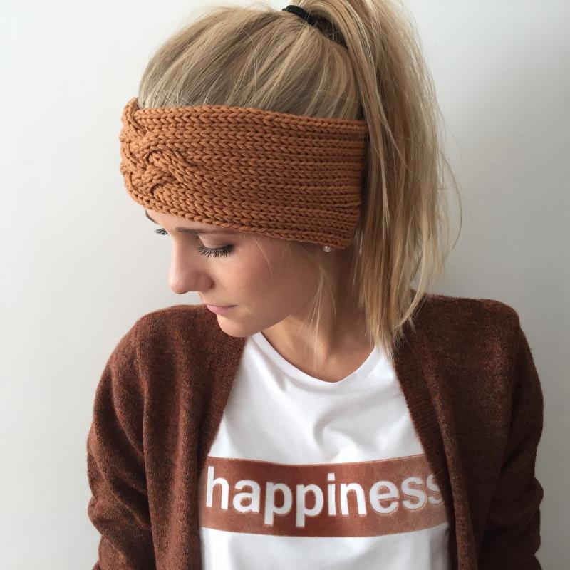 Kleinesbild - Gestricktes Stirnband *ZOE *  Handarbeit  aus Wolle von zimtblüte zartes Grün und andere Farben