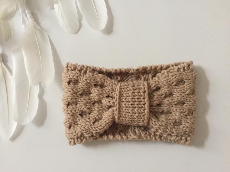 Kleinesbild - LAST MINUTE  Stirnband * ALMA * aus Wolle handgestrickt von zimtblüte sand