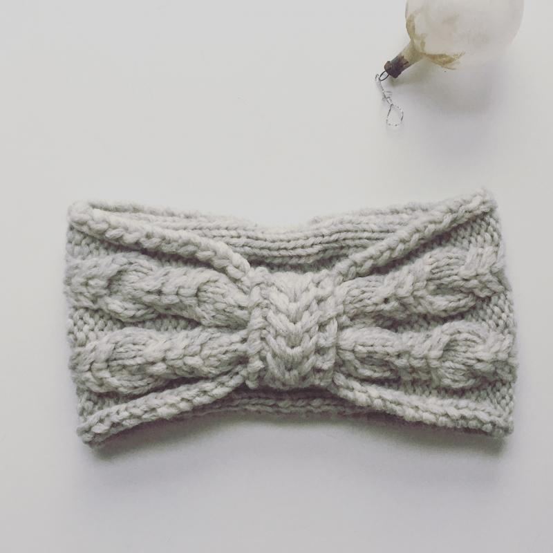 Kleinesbild -  Stirnband * BELLE * hellgrau feine Wolle mit Kaschmir handgestrickt von zimtblüte / 3 Farben