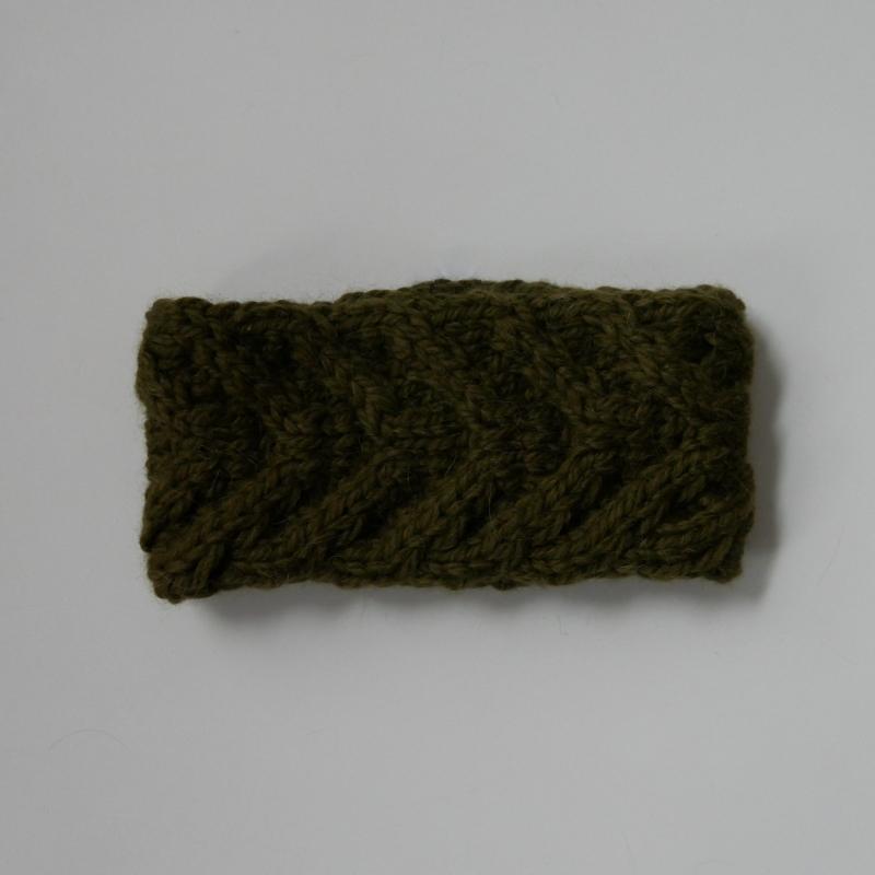 Kleinesbild - Stirnband  handgestrickt ** EFFI alpaka ** von zimtblüte / 8 Farben