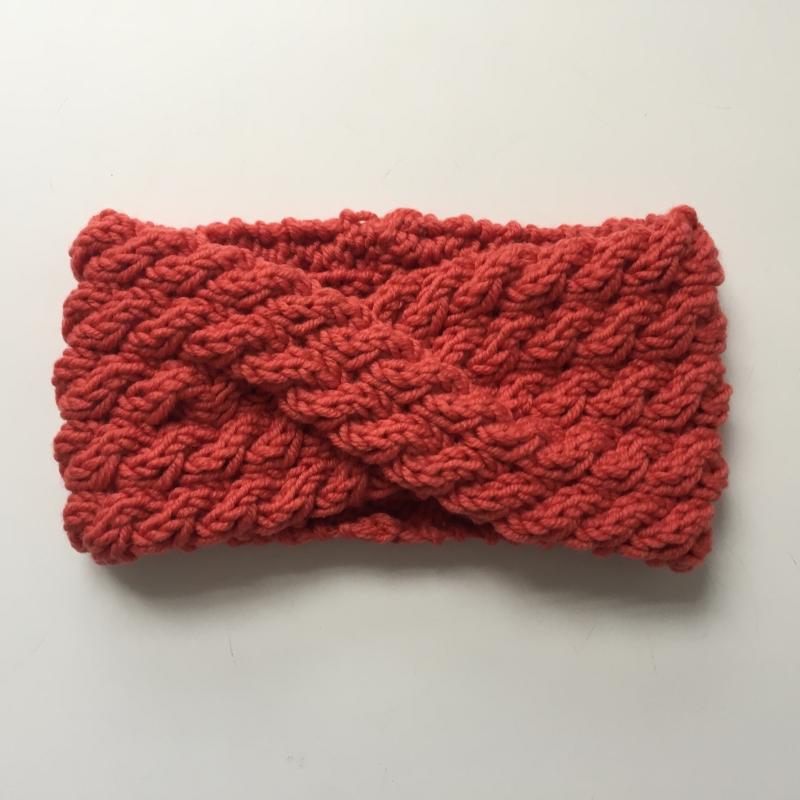 Kleinesbild - Stirnband handgestrickt  **  AMY **  koralle von zimtblüte mehrere Farben