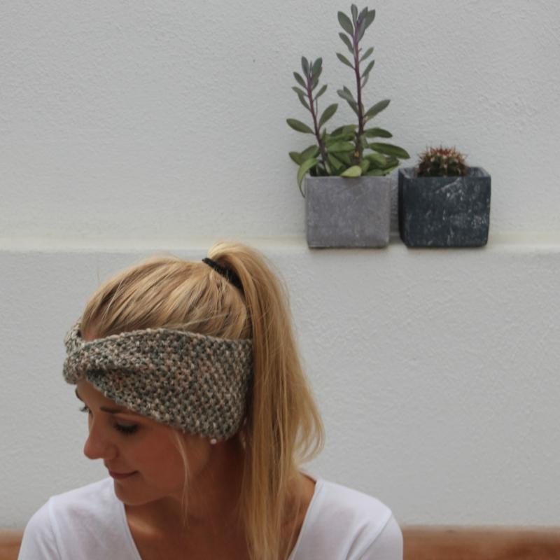 Kleinesbild - Stirnband handgestrickt  * MARIEmulti * von zimtblüte  / 3 Farbvariationen