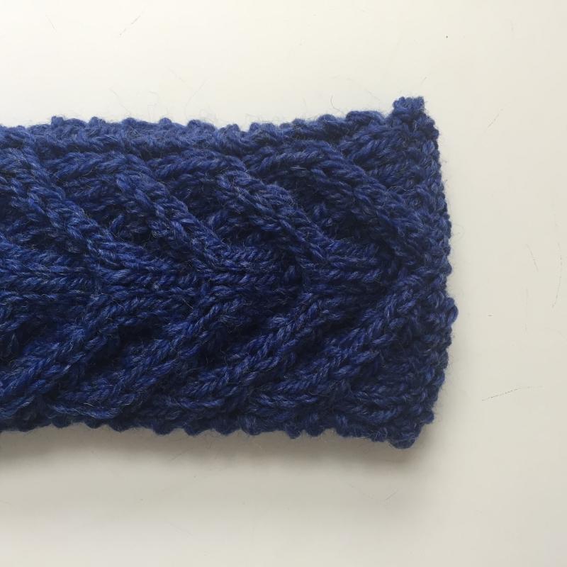 Kleinesbild - Stirnband * EFFI * blau von zimtblüte handgestrickt / Farbwahl