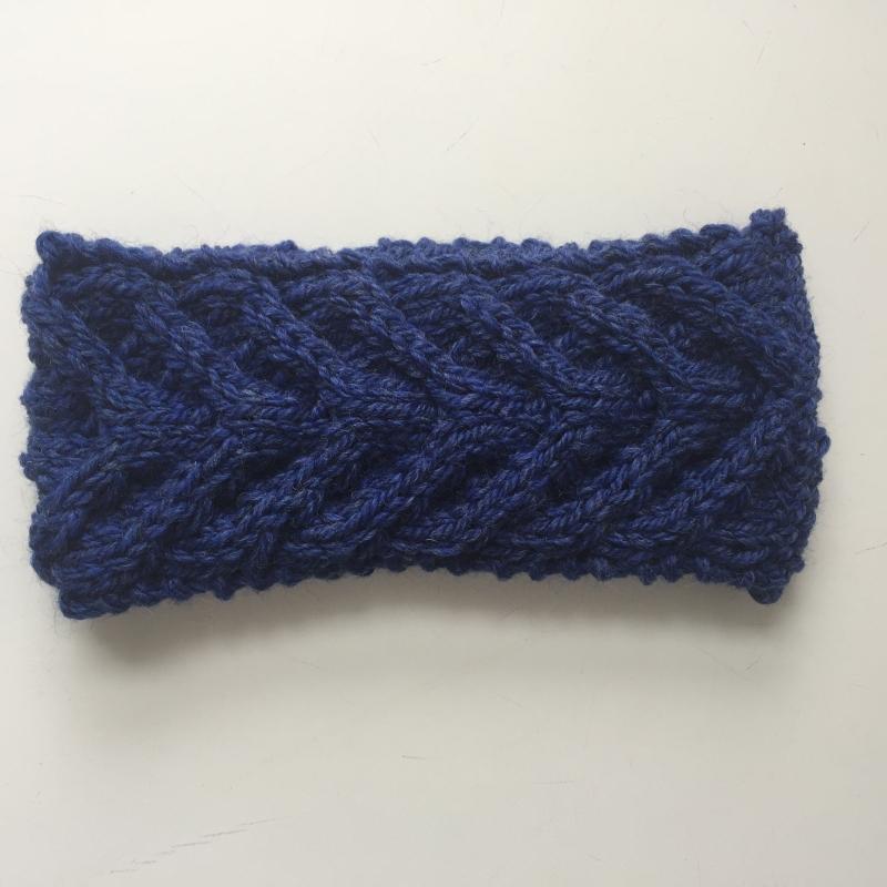 - Stirnband * EFFI * blau von zimtblüte handgestrickt / Farbwahl  - Stirnband * EFFI * blau von zimtblüte handgestrickt / Farbwahl